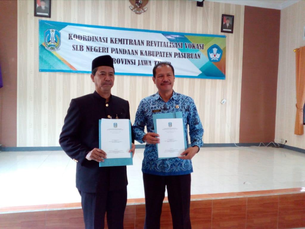 Dukung Pendidikan Inklusi, SMKN 1 Gempol Jalin MoU dengan SLB Negeri Pandaan
