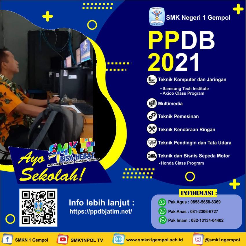 PENDAFTARAN PESERTA DIDIK BARU (PPDB) SMK1NPOL TAHUN PELAJARAN 2021~2022